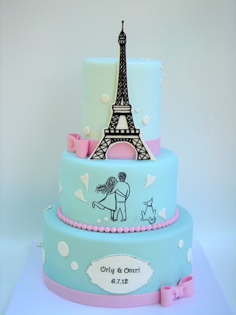 עוגת חתונה מעוצבת של תמר על ההר