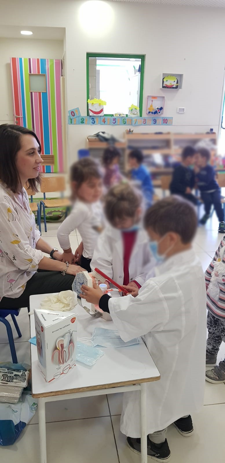 ילדי גן בנתניה למדו כיצד לשמור על בריאות הפה טוב יותר