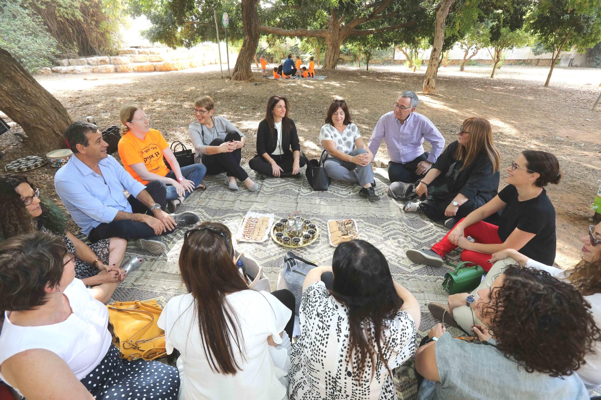 ביקור מנהלת מחוז תל אביב במשרד החינוך