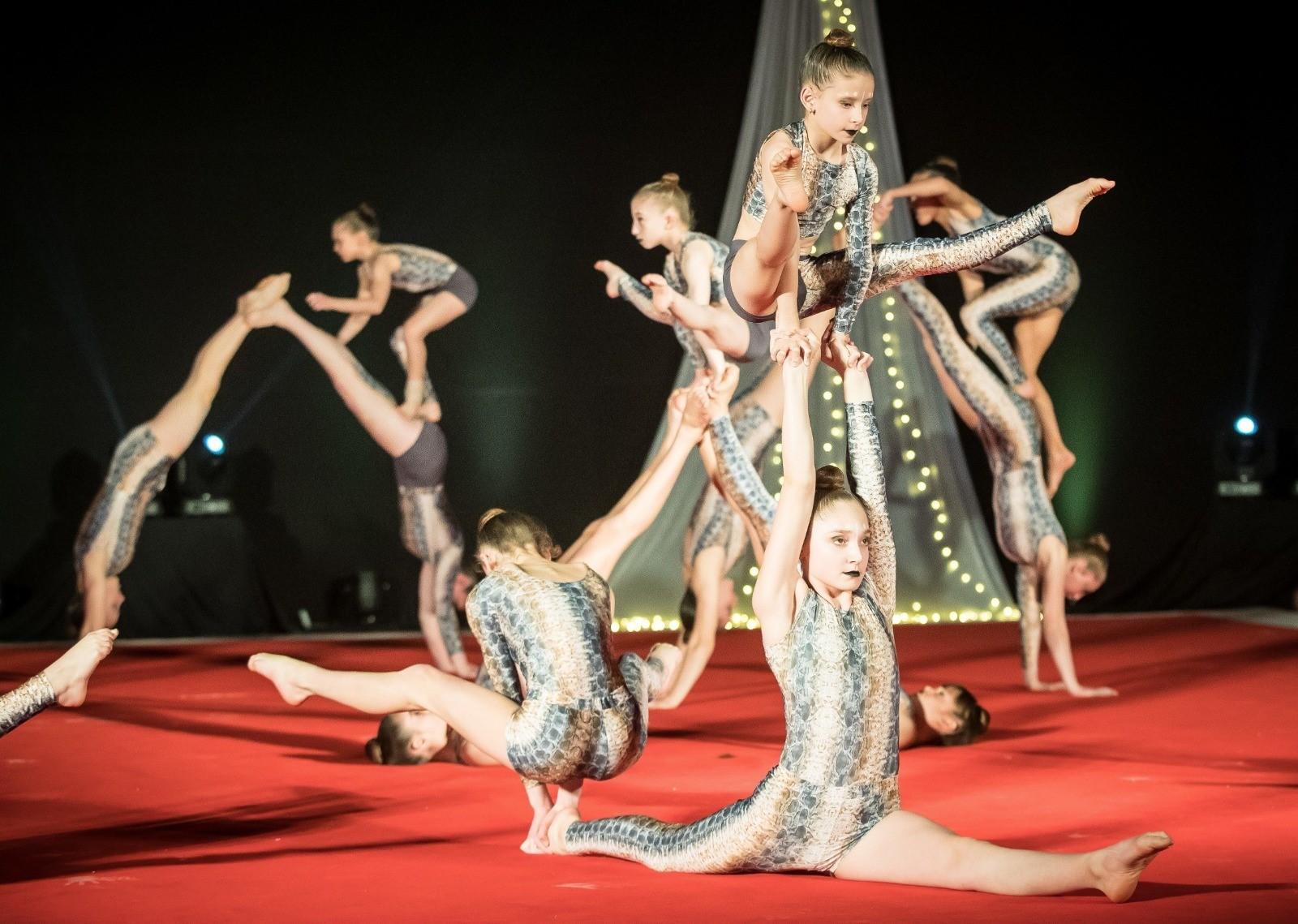 מיטב נבחרות האקרובטיקה בישראל השתתפו במופע הגימנסטרדה