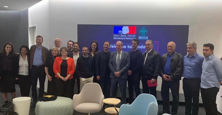 שגריר צרפת בישראל, אריק דנון, התארח היום, (ד' 26.2.2020) ברעננה