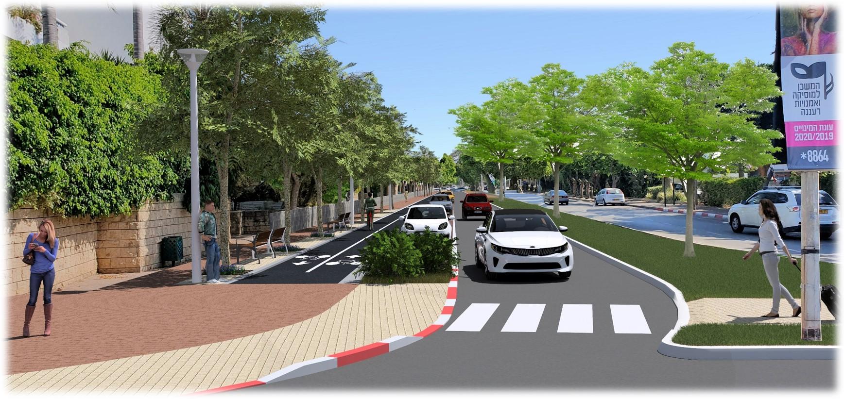 עיריית רעננה מתחילה בעבודות לסלילת שביל אופניים חדש ברחוב קרן היסוד